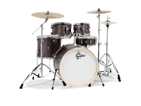 Gretsch Energy 5-Piece Kit Brushed Grey with Zildjian Cymbals