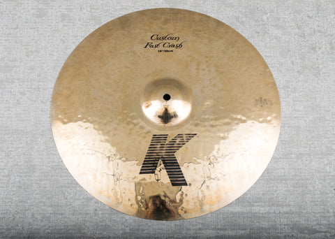 "Used Zildjian 16"" K Custom Fast Crash Cymbal"