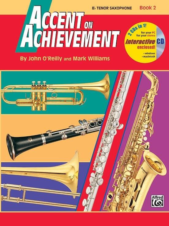 Alfred Accent on Achievement Bb Tenor Saxophone Book 2
