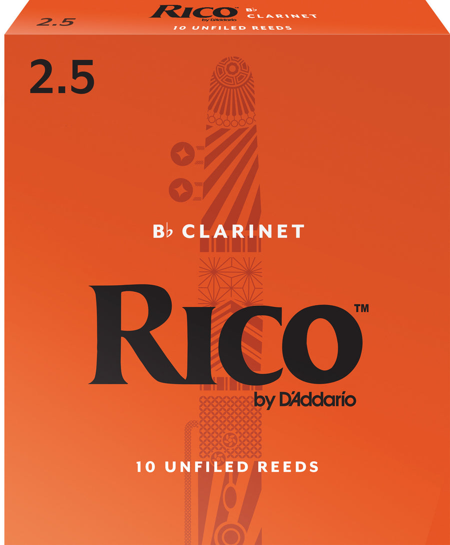 Rico Bb Clarinet reeds #2.5 10-pack