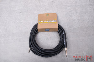 Rattlesnake Cable 20' Standard in Black Straight Plugs