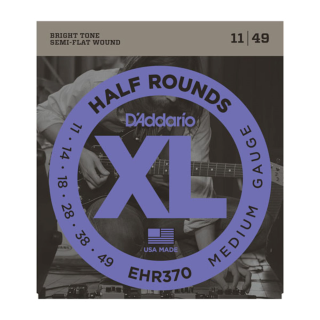D'Addario EHR370 Half Round Electric Guitar Strings, Medium, 11-49