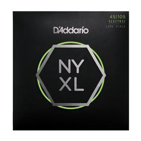 D'Addario NXL45105, Set Long Scale, Light Top / Med Bottom, 45-105