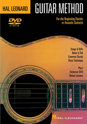 Hal Leonard Guitar Method DVD For the Beginning Electric & Acoustic Guitarist