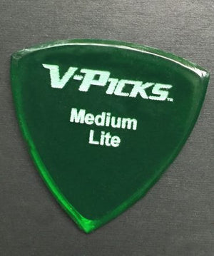 V-Picks Medium Pointed Lite Emerald Green
