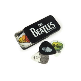 Beatles Signature Guitar Pick Tins, Logo, 15 picks, Medium