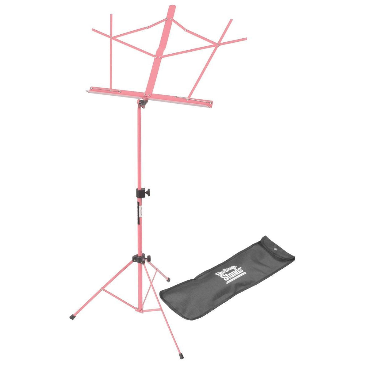 On Stage Compact Sheet Music Stand (Pink, with Bag)