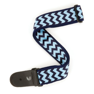 Chevron Guitar Strap, Blue and Navy Guitar Strap