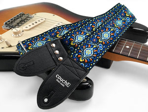 Couch Electric Blue Hendrix Style Hippy Weave Guitar Strap