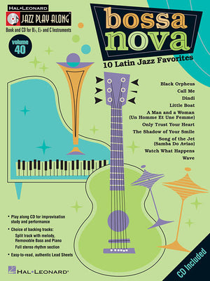Hal Leonard Bossa Nova 10 Latin Jazz Favorites Jazz Play-Along