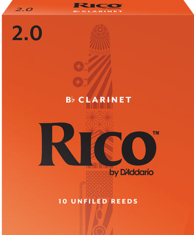 Rico by D'Addario Bb Clarinet #2 10-pack Reeds