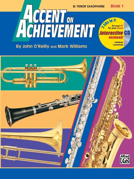 Alfred Accent On Achievement Bb Tenor Saxophone Book 1
