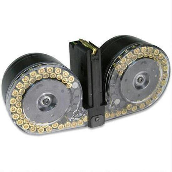 RWB 100rd Dual Drum Magazine for AR15/M4 5.56/.223/300blk