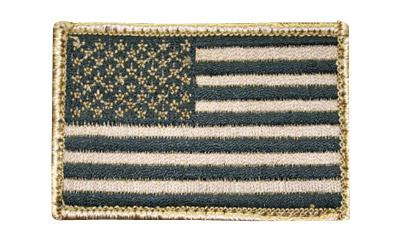 Bh American Flag Patch H&l Tan-black