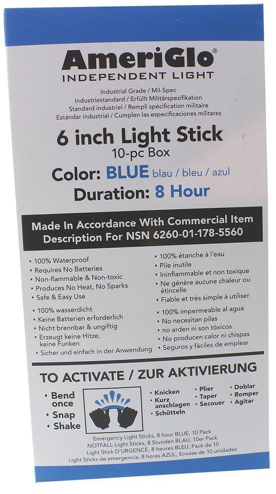 AMER 608HB10B  STICKS 6IN  8H BLUE  10