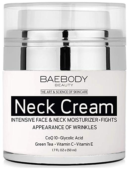 Baebody Neck Cream with AHA's, CoQ10, Glycolic Acid, and Green Tea - 1.7 oz