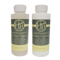 Head Hunters Naturals Hair Shampoo Head Hunters Naturals Lemon Eucalyptus & Geranium Shampoo and Conditioner Combo Set 12oz