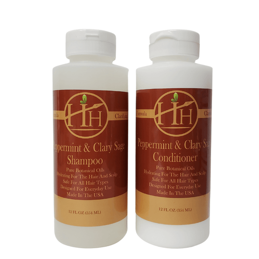 Head Hunters Naturals Hair Shampoo Head Hunters Naturals Peppermint & Clary Sage Shampoo & Conditioner  Combo  Set 12oz