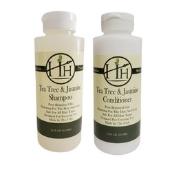 Head Hunters Naturals Hair Shampoo Head Hunters Naturals Tea Tree & Jasmine Shampoo & Conditioner Combo Set 12oz…