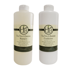 Head Hunters Naturals Hair Shampoo Head Hunters Naturals Tea Tree & Jasmine Shampoo & Conditioner Combo Set 32oz