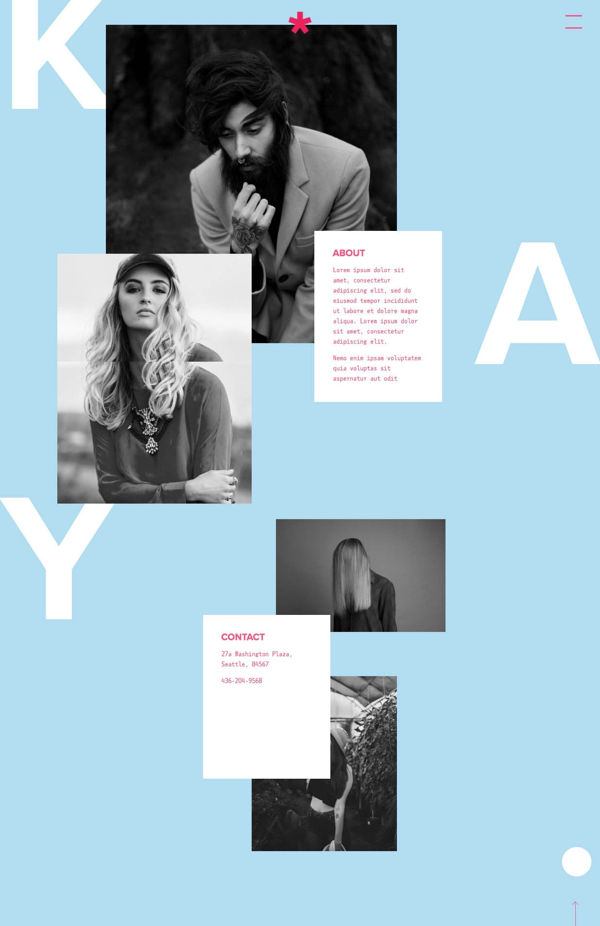 Kay Squarespace Template About
