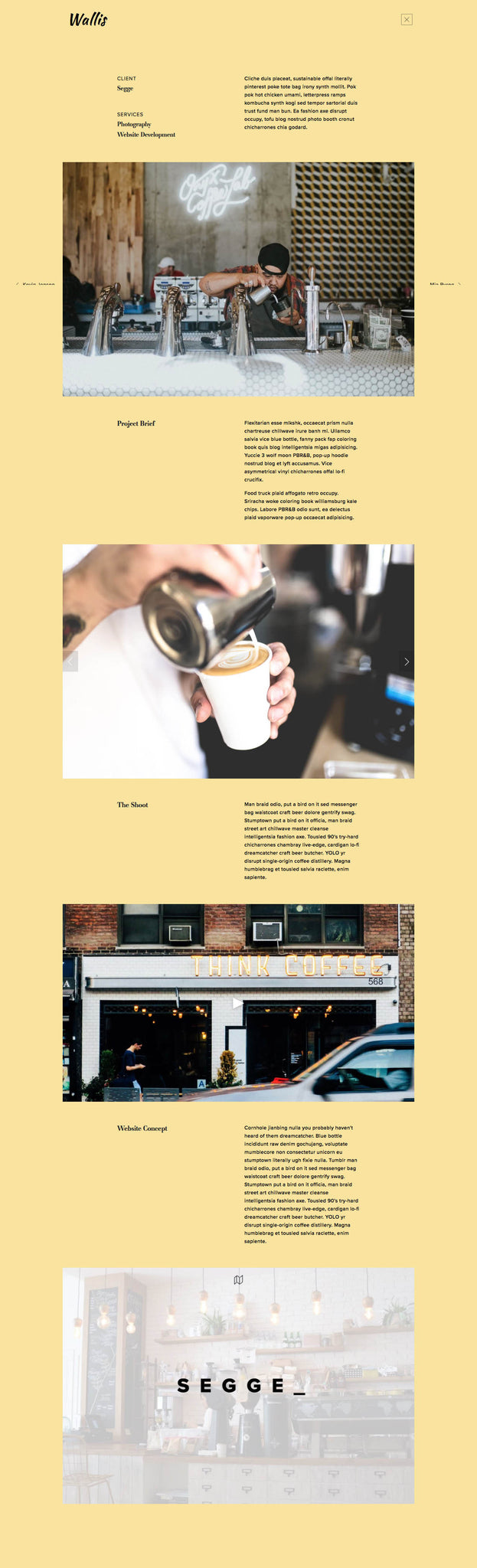 Wallis Squarespace Template Project