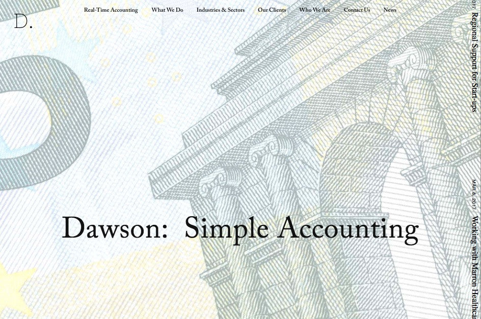 Dawson Squarespace Template home