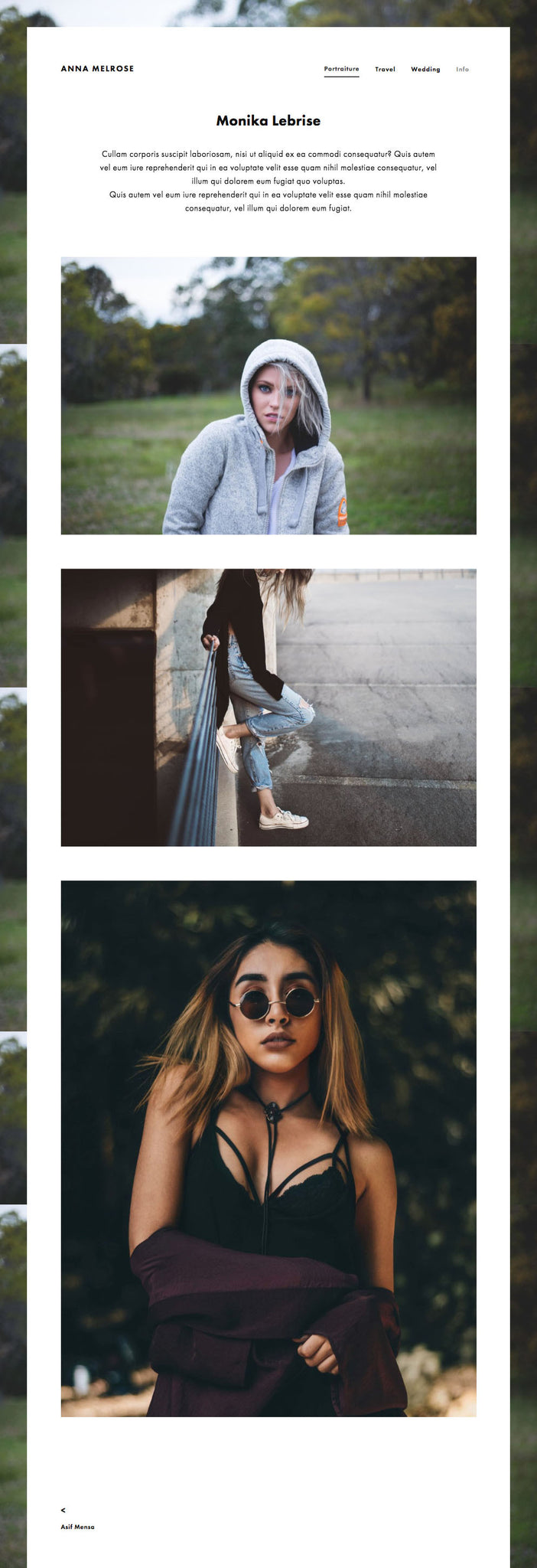 Melrose Photography Template Squarespace