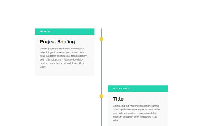 Alternating Vertical Timeline