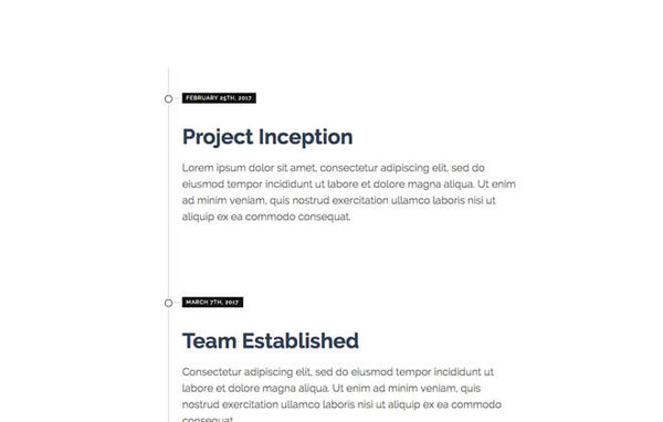 Timeline for Squarespace