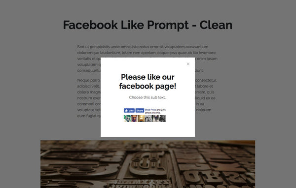 Facebook Like Prompt