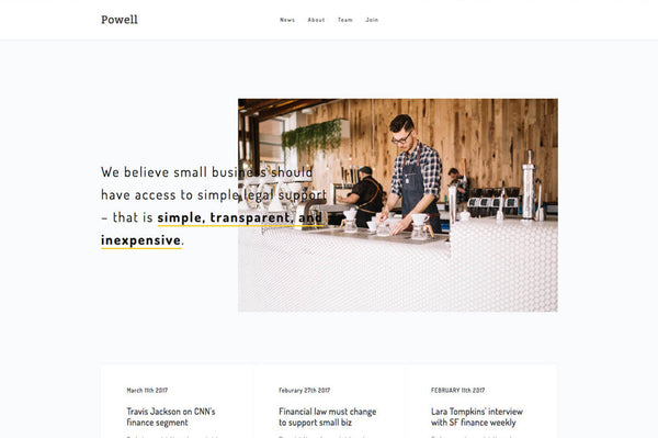 Powell Squarespace Template