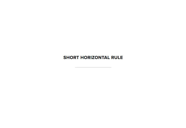 Short Horizontal Line