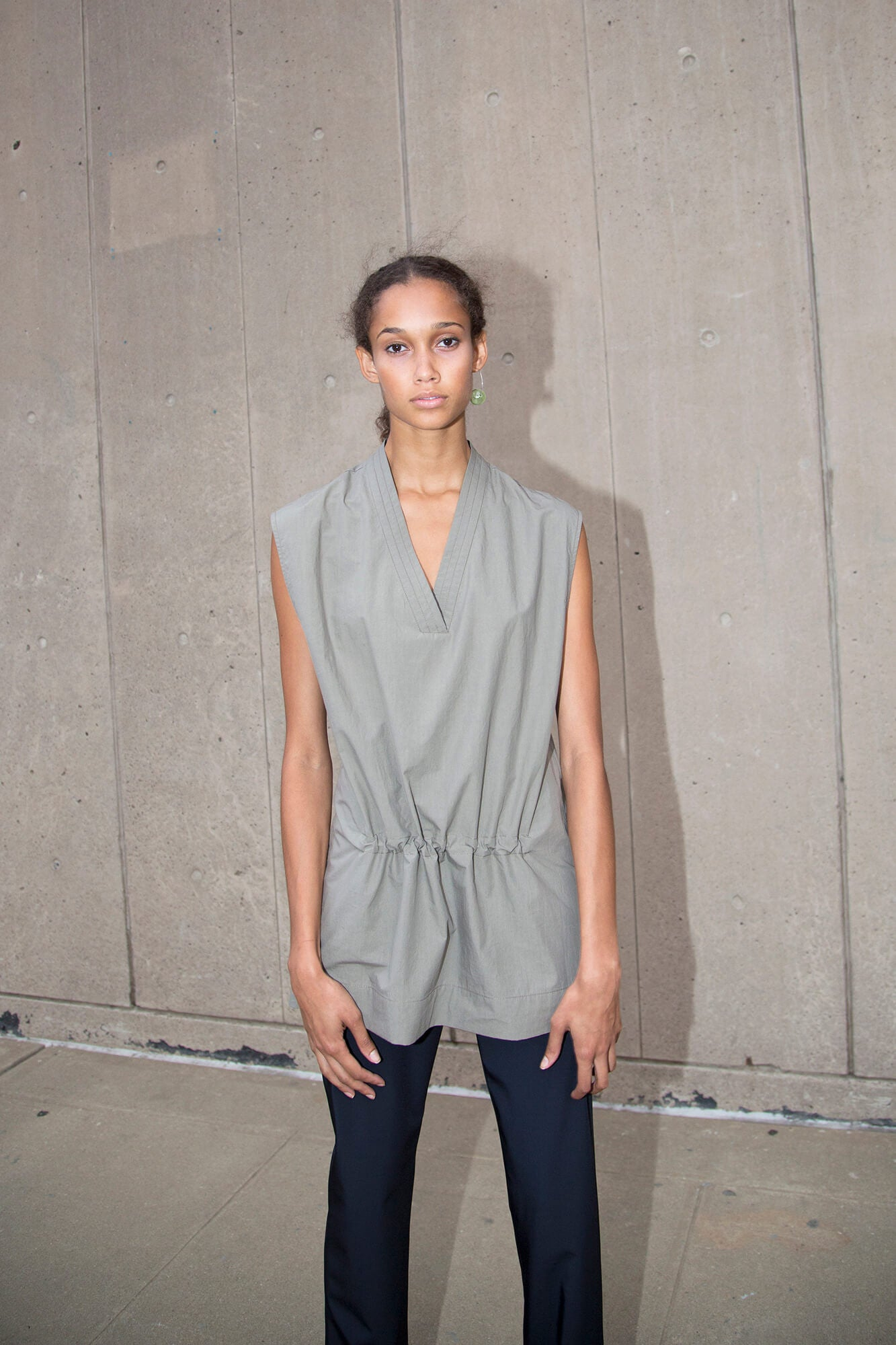 Sleeveless Tunic - Stone