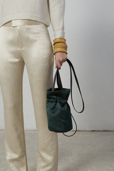 Crossbody bucket Bag - Forest