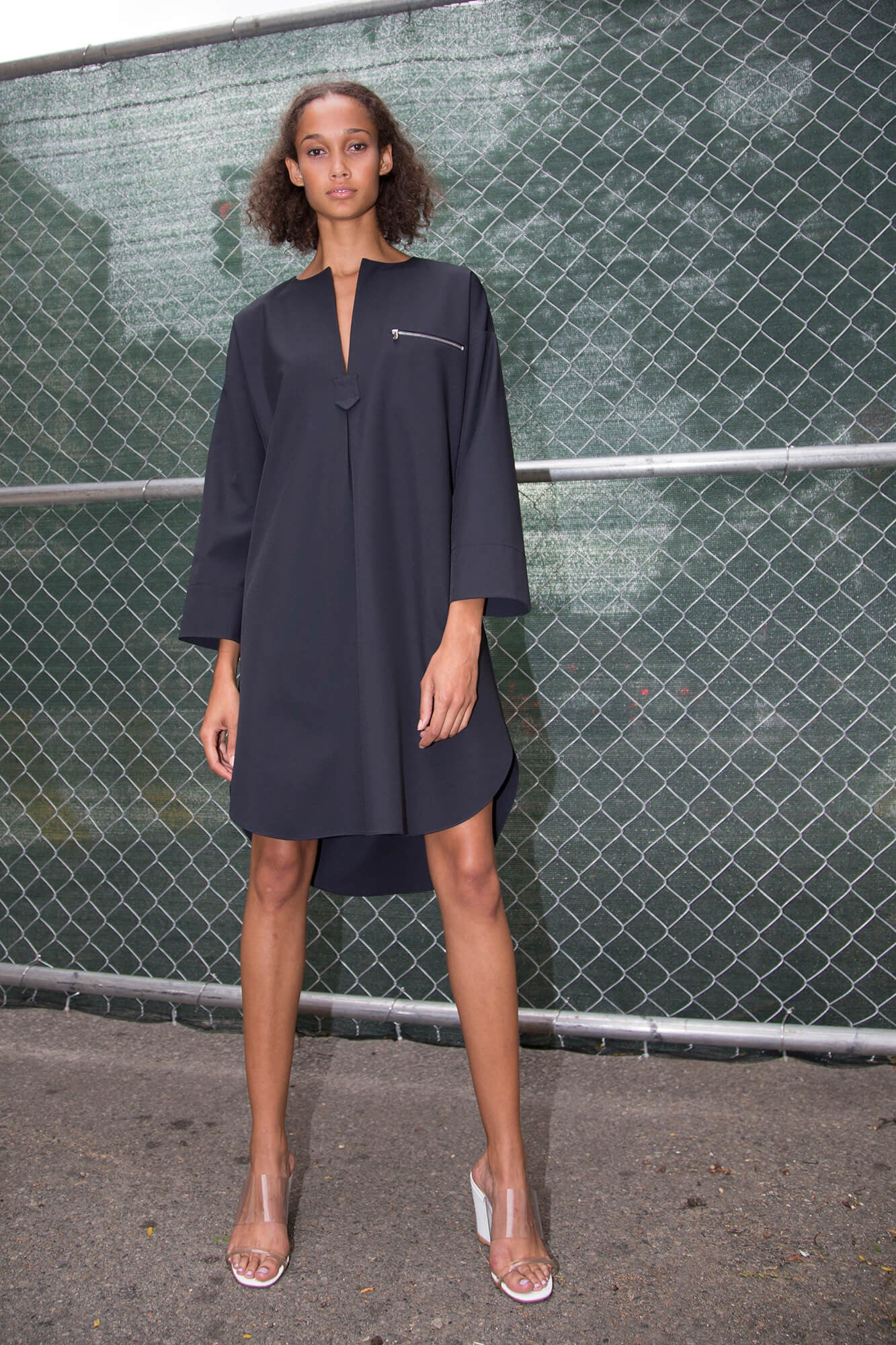 Oversize Tunic Dress - Midnight