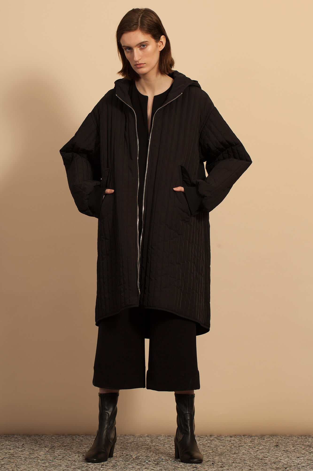Quilted Parka - Black