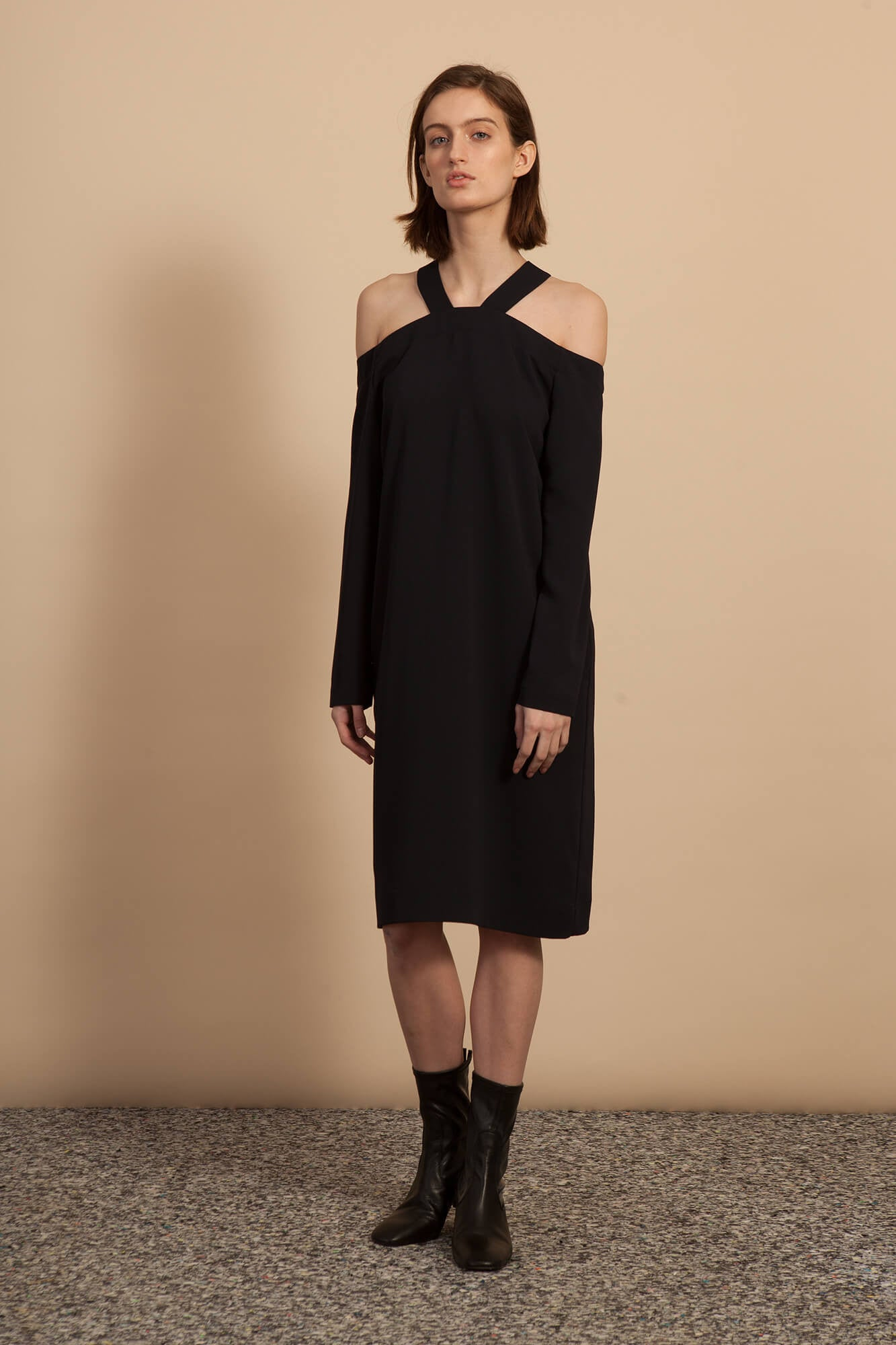Trestle Dress - Black