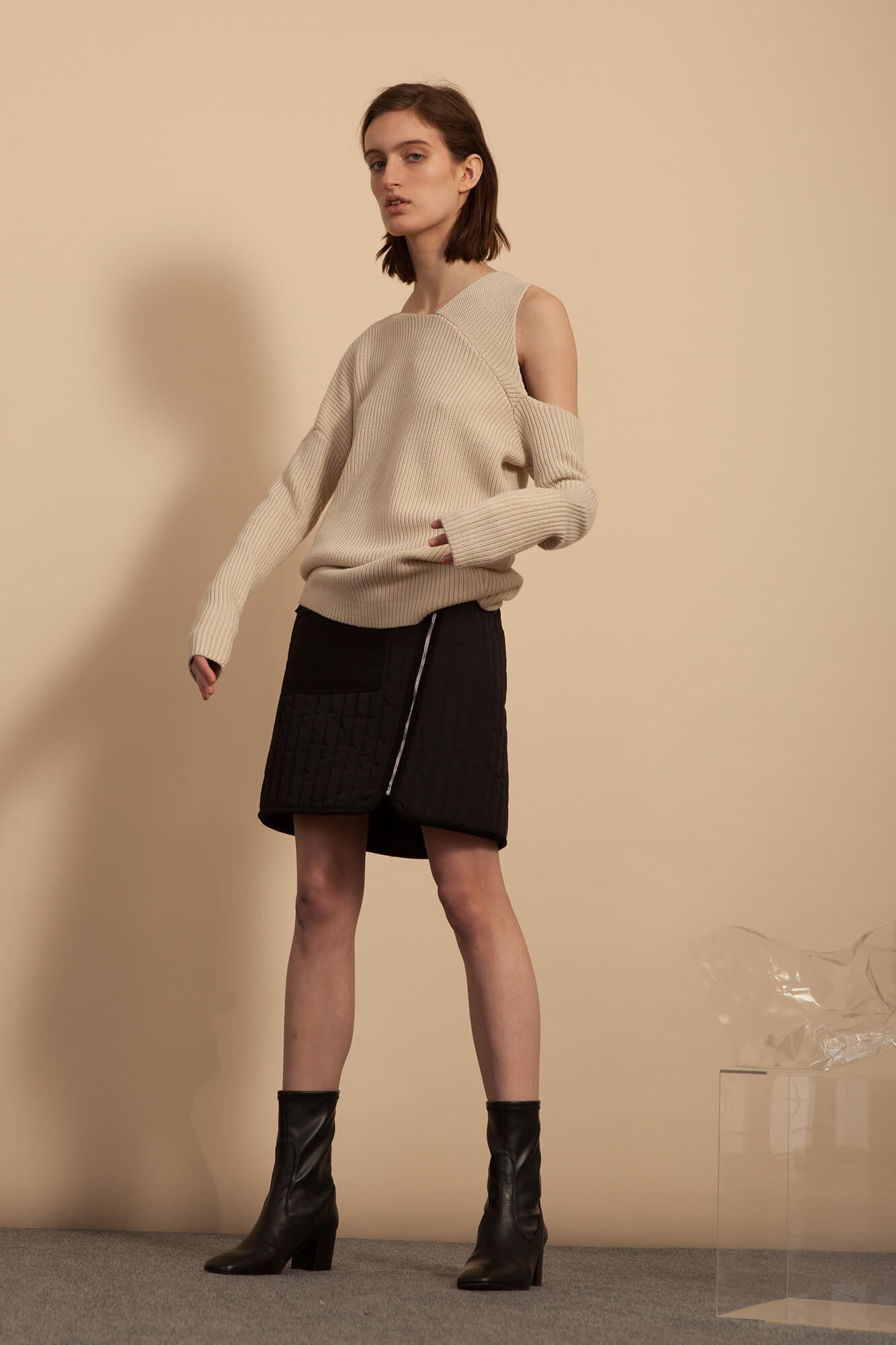Asymmetrical Sweater - Ecru
