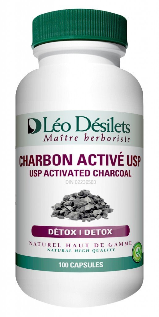 USP Activated Charcoal Detox (100 caps) - Yoga Vedanta