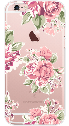 Pink Roses Phone Case (Soft Transparent)