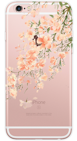 Orange Blossoms Phone Case (Soft Transparent)