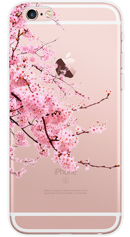 Cherry Blossom Phone Case (Soft Transparent)