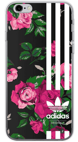 Adidas Floral Phone Case (Soft Transparent)
