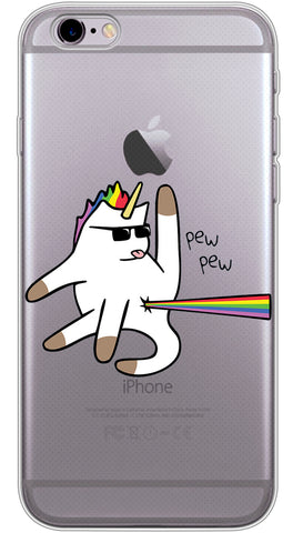 Badass Unicorn Phone Case (Soft Transparent)