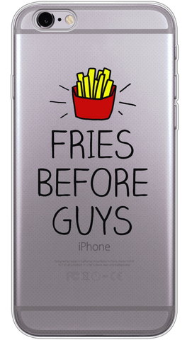 Fries Before Guys Phone Case (Soft Transparent)