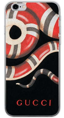 Gucci Snake Black Phone Case (Soft Transparent)