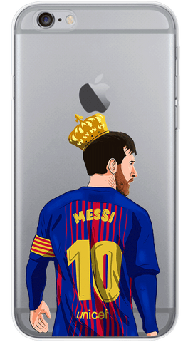 King Messi Phone Case (Soft Transparent)