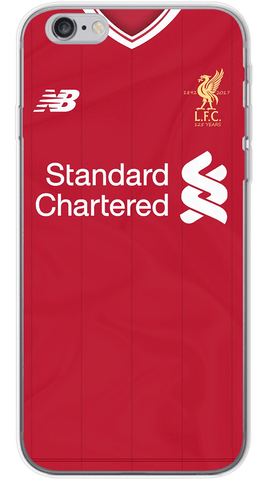 Liverpool Home 2017/18 Phone Case (Soft Transparent)