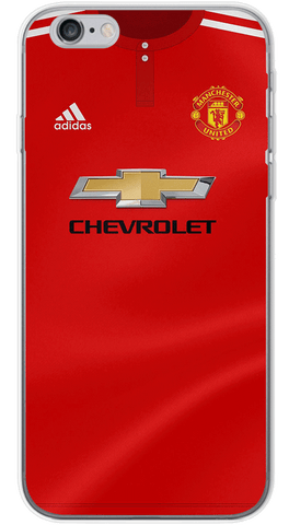 Manchester United Home 2017/18 Phone Case (Soft Transparent)